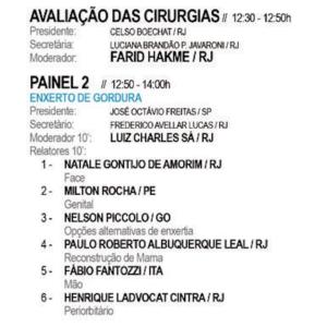 35° Jornada Carioca de Cirurgia Plastica – August 2016