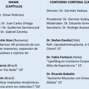 Congreso Argentino Nacional de Cirurgia Plastica – 22nd 24th May 2019 2